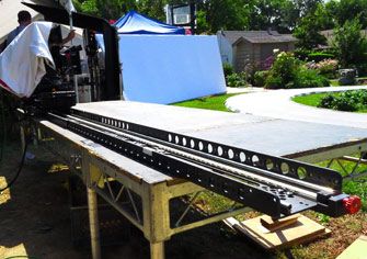 6-Channel Repeatable Motion Slider Camera-Movement System - Three 6-Foot Mini Sliders linked together for a Toyota Tundra commercial