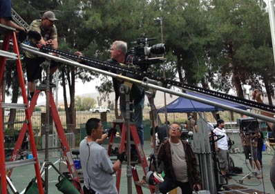 6-Foot Mini Slider Camera-Movement System being used to capture a diagonal movement