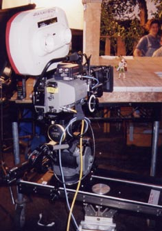 An early model 4-Foot Slider being used to shoot toys