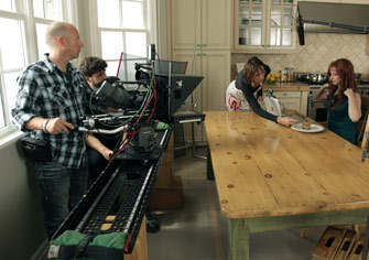 The 8-Foot Slider in action on a commercial.