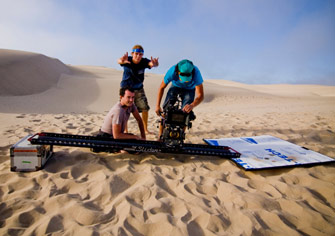 The 8-Foot Slider Camera-Movement System on the beach
