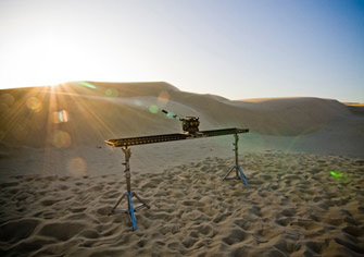 The 8-Foot Slider Camera-Movement System on the sand