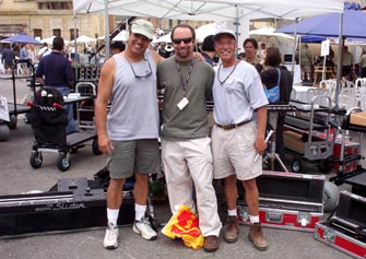 Ron Veto, cinematographer Jeff Cronenweth, ASC and Jerry Giacalone