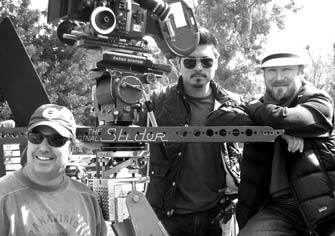 Applebees commercial shoot with Ron Veto, cinematographer Richard Henkels, and 1st A.C. Kimo Proudfoot