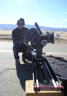 Cinemaphotographer Florian Stadler shooting cars with the 8-Foot Slider