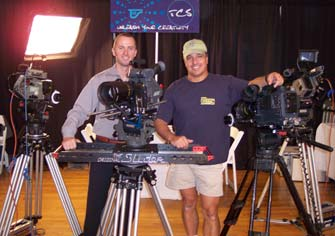 Our New York rep, Erik Schietinger, with TCS Camera and Ron Veto at the New York Cine Expo