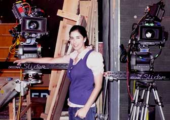 Comedian Sarah Silverman is a good friend of the Slider camera-movement system