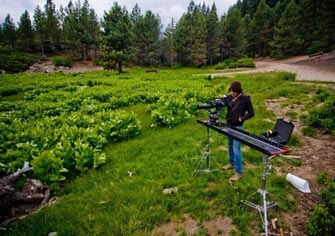 Seth Naugle shooting a Patagonia commercial with the 6-Foot Slider