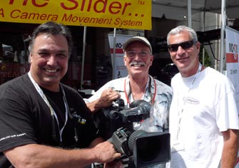 Ron, Jerry and 24 1st camera assistant Jon Sharp having a few laughs at the 2010 Cinegear Show