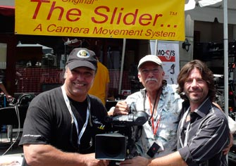 Ron, Jerry and producer Ian Falvey sharing jokes at the 2010 Cinegear Show