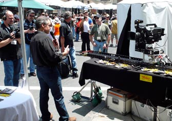 Our Motion-Control Slider drew a crowd at the 2010 Cinegear Trade Show as a television crew did an interview about our