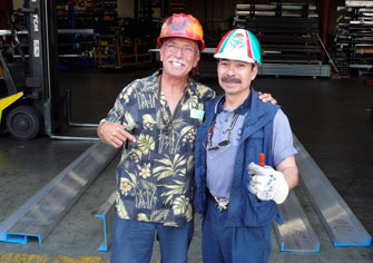 Jerry working with Albert from Industrial Metals