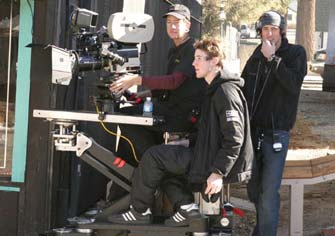Cinematographer Jeff Dolen uses the Slider in its extended off-set position