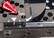 "The 5/16"" allen wrench conveniently stored under the camera plate"